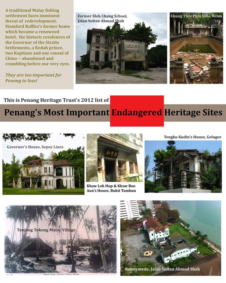 Endangered Sites Poster