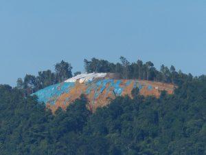 Hill destruction July 2013