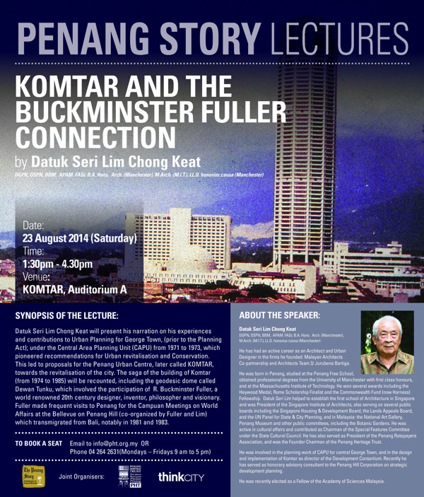 Penang Story Lecture: Komtar and the Buckminster Fuller Connection