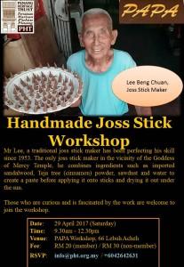 PAPA Workshop: Traditional Handmade Josssticks @ PAPA Workshop | George Town | Pulau Pinang | Malaysia